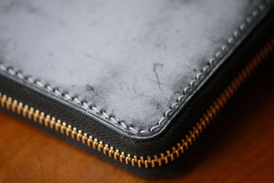 photo of gray leather wallet
