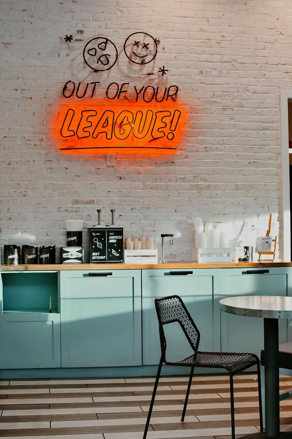Out of Your League neon light signage