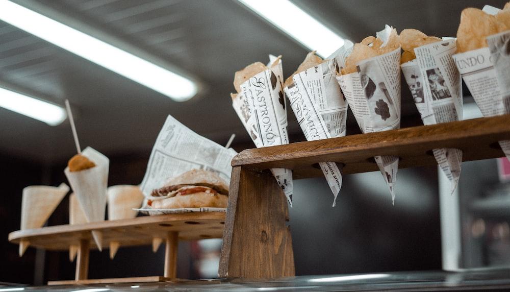 burger on newspaper