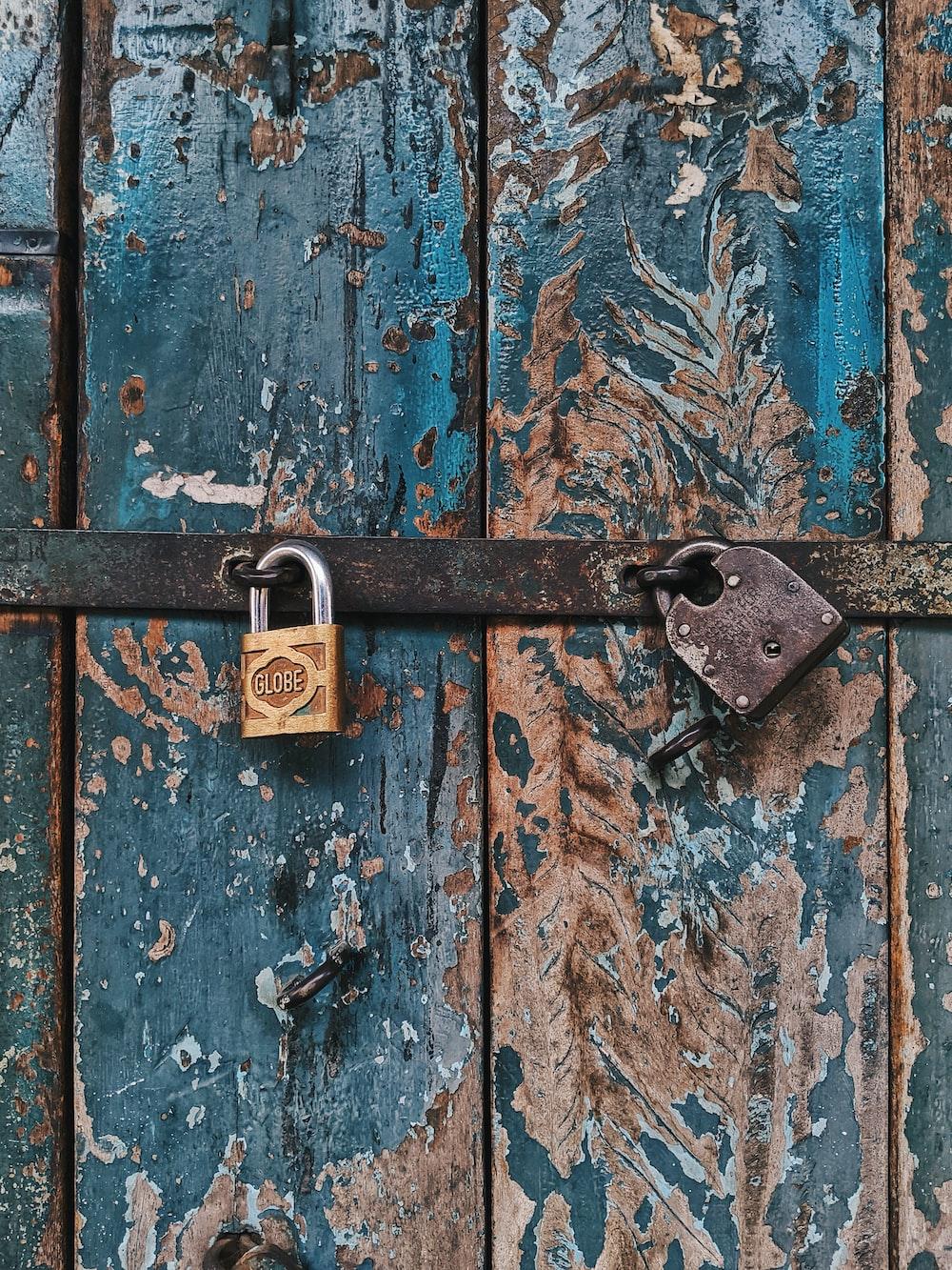 grey padlocks