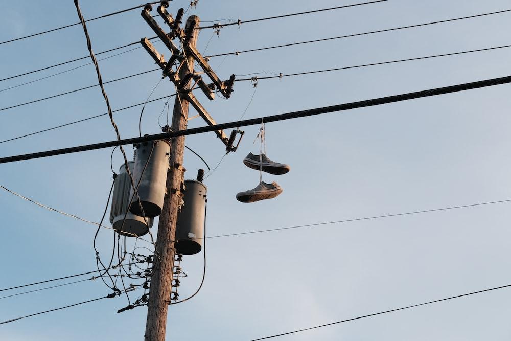grey electric post