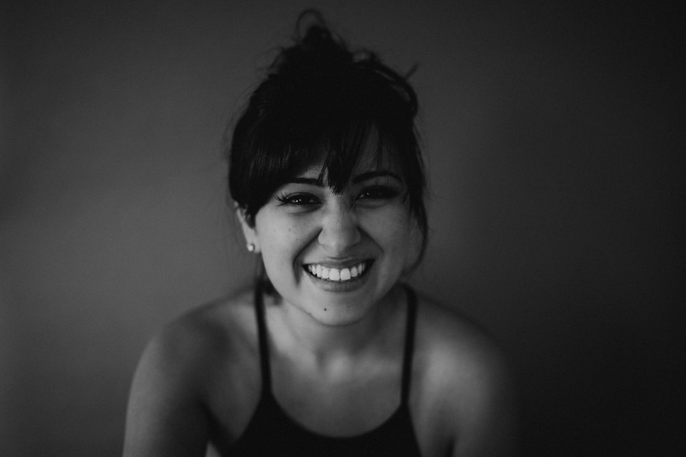 smirking woman