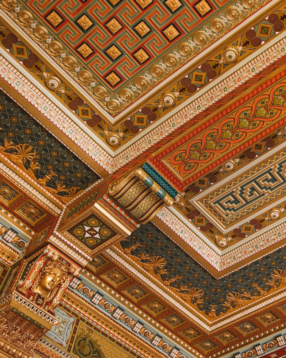 gold art ceiling