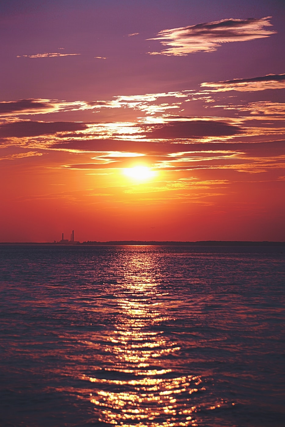 sunset over dewey beach