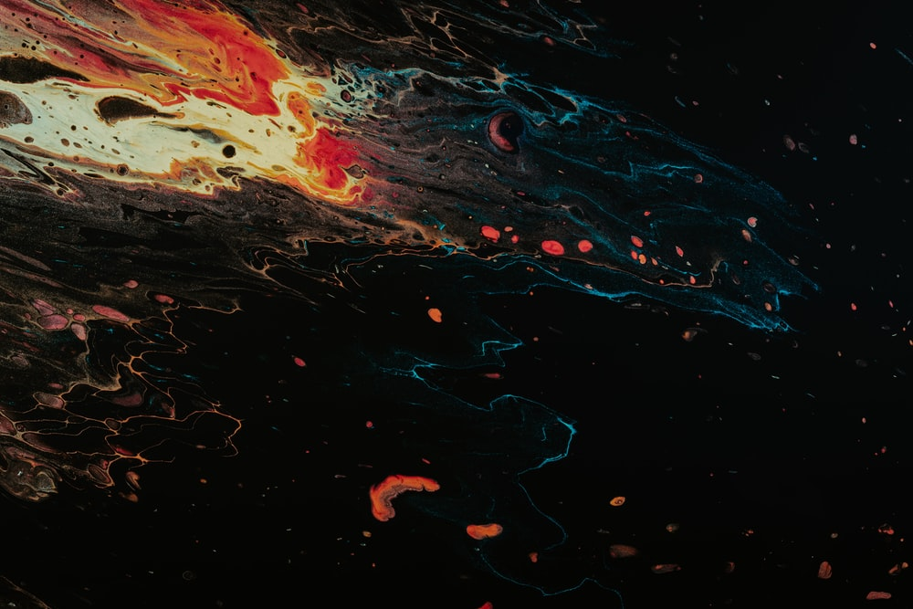 black and red lava