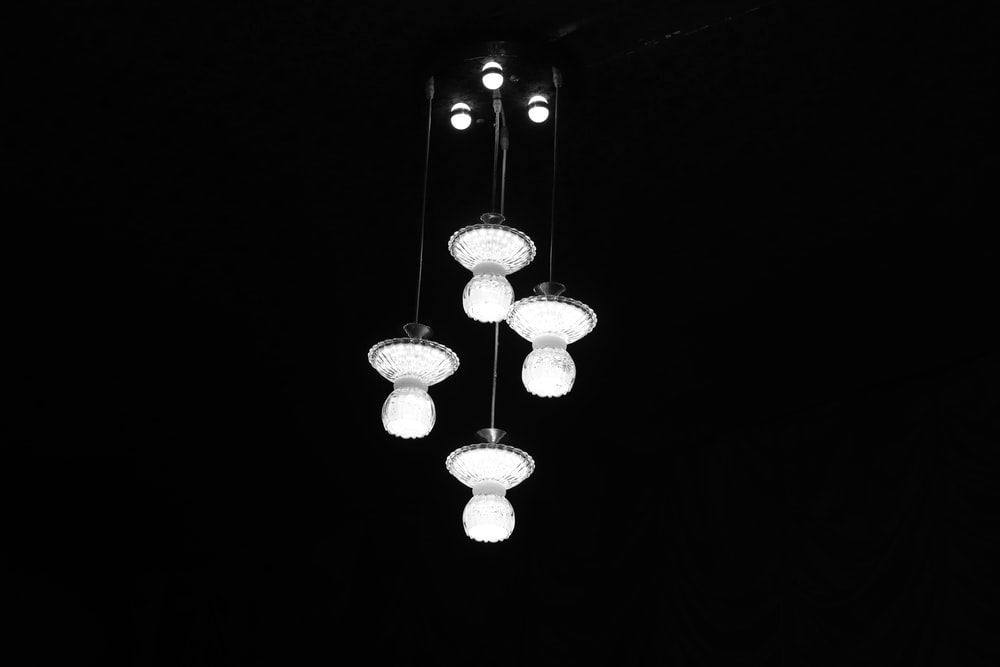 four ceiling lights
