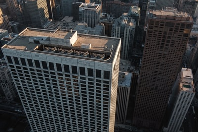 aerial view of buildings illinois zoom background