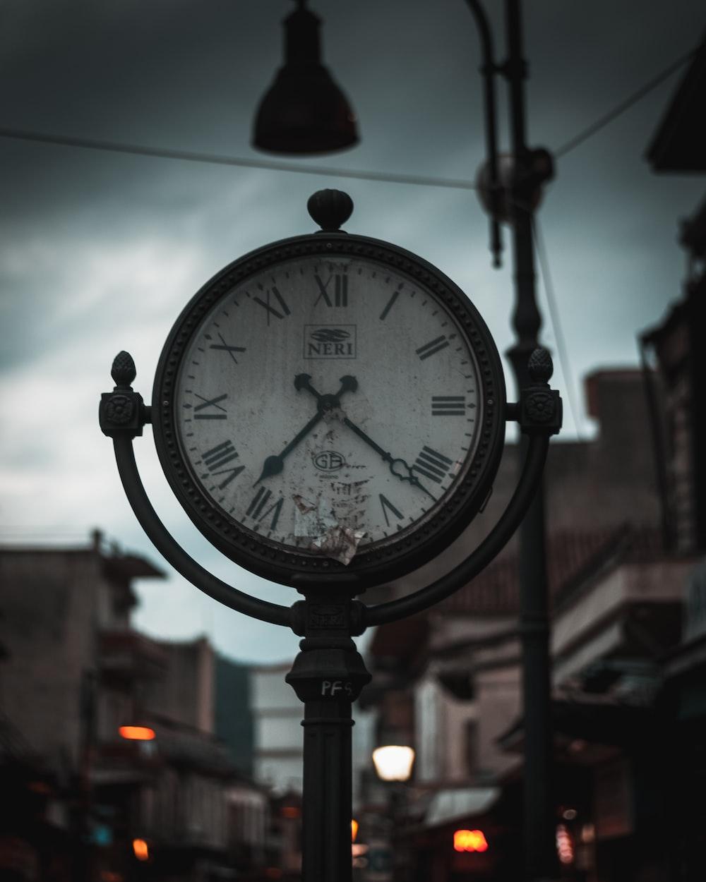 round brown clock