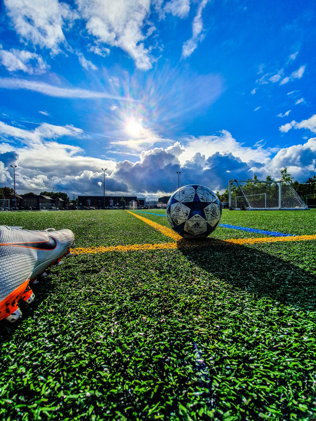 a day out in the sun playing football