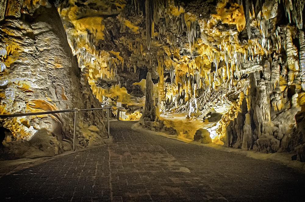 concrete floor in cave