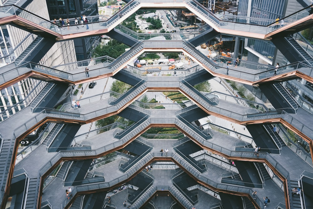 gray concrete multi-storey building