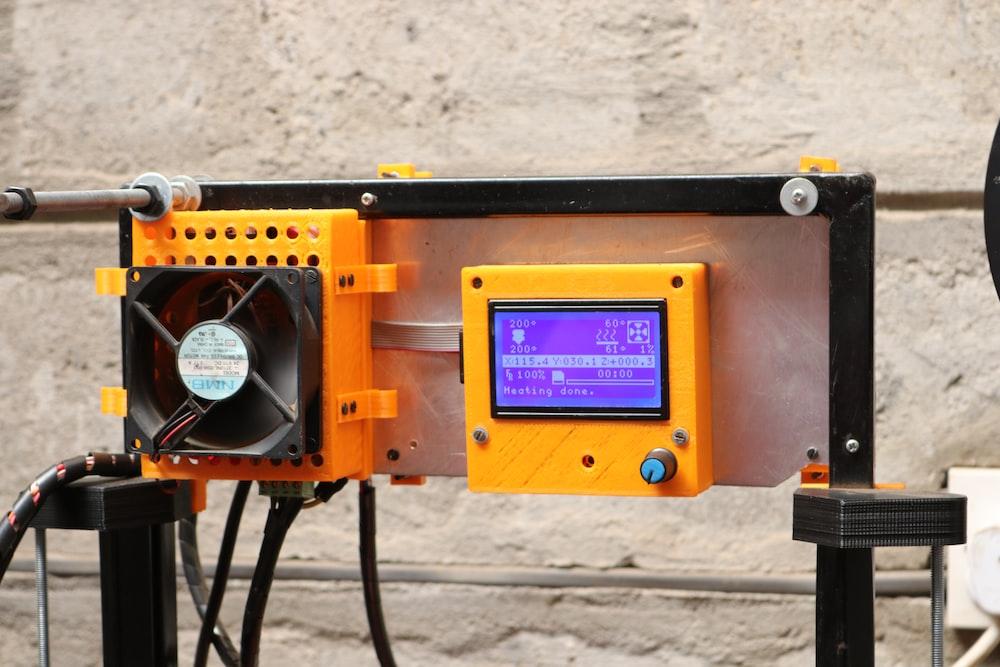 yellow digital machine