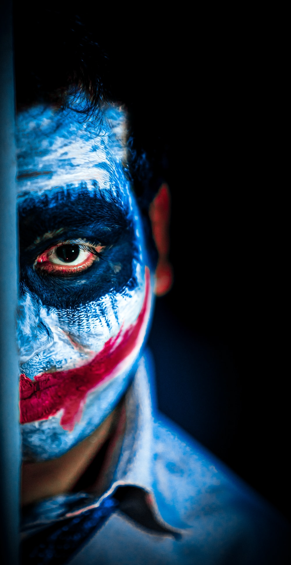 man in face paint