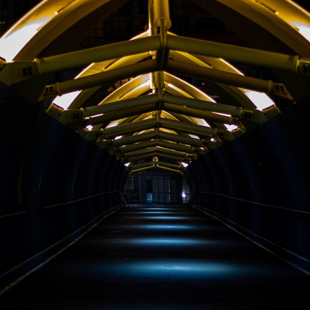 black concrete tunnel