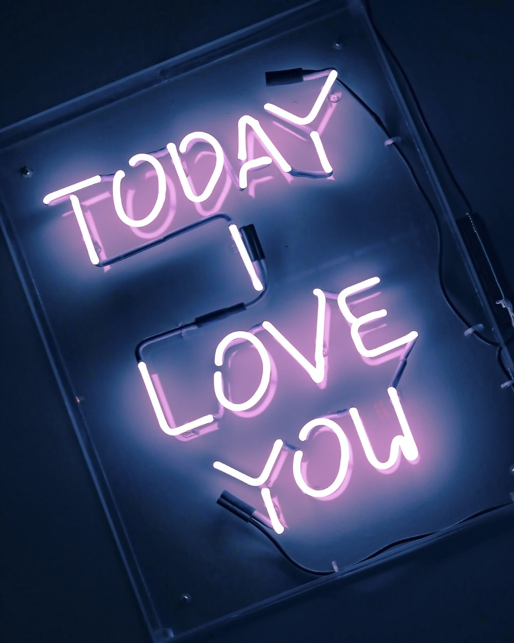 today love you neon light signage