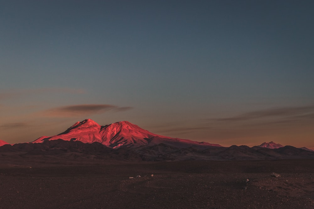 snow-capped mountain during sunrise