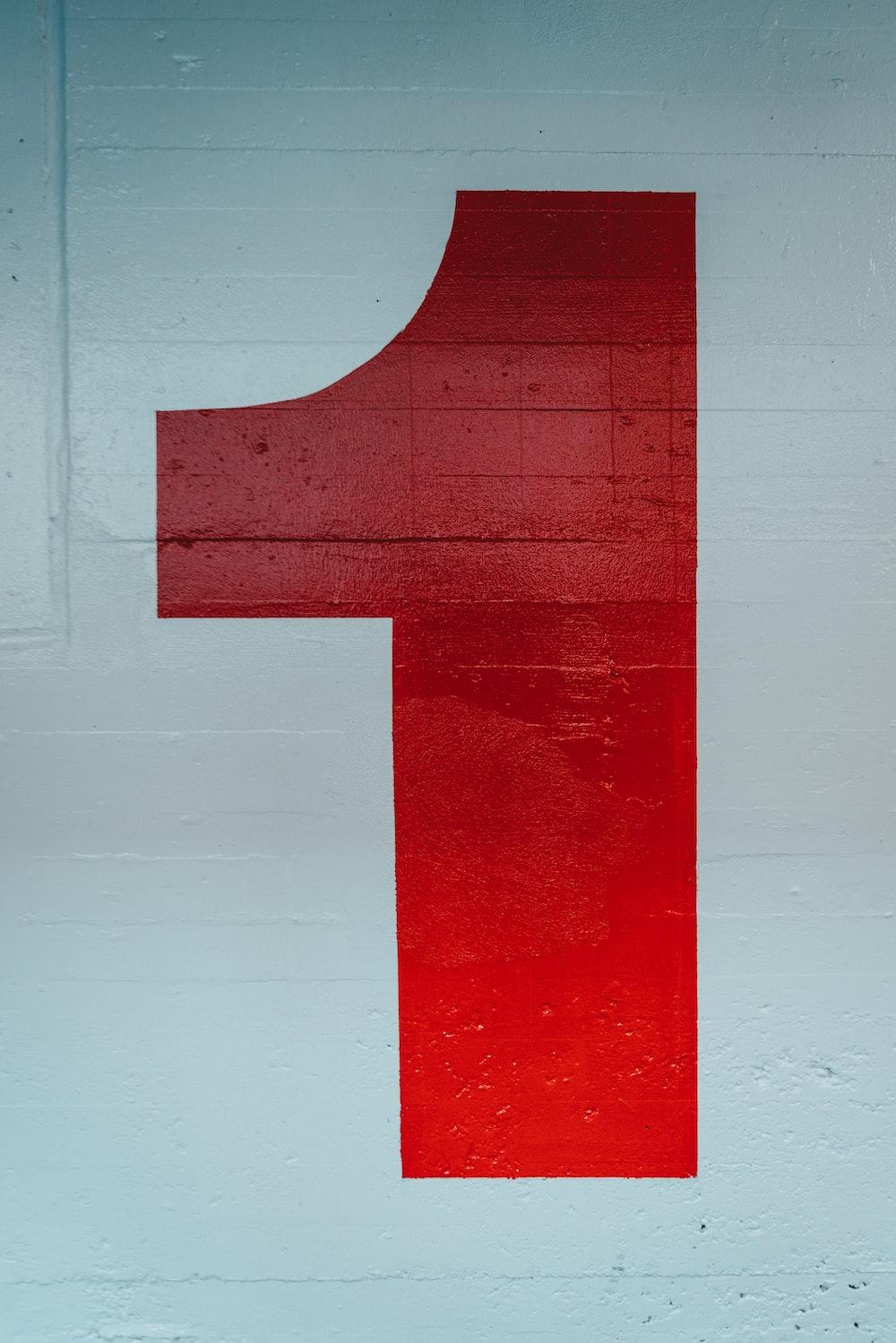 red 1 signag