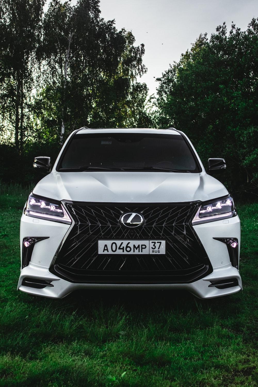 white Lexus vehicle