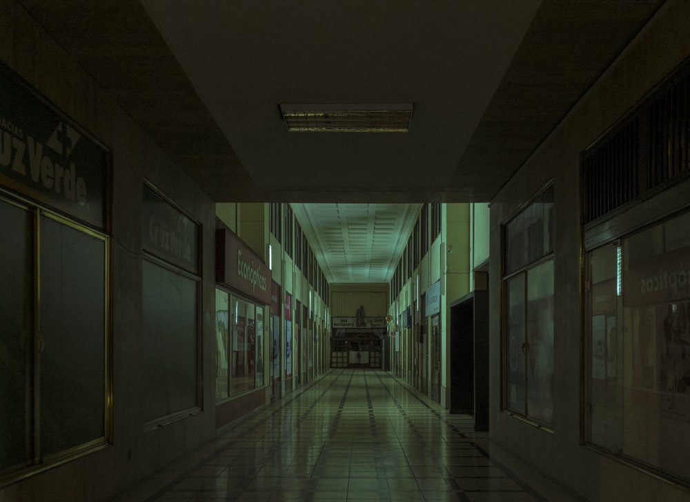 deserted corridor of a building