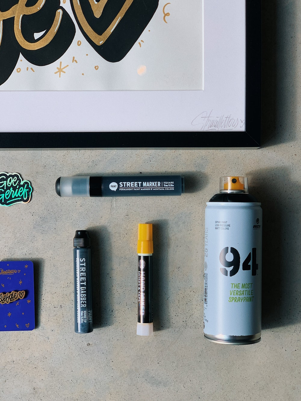 flat-lay photography of assorted items