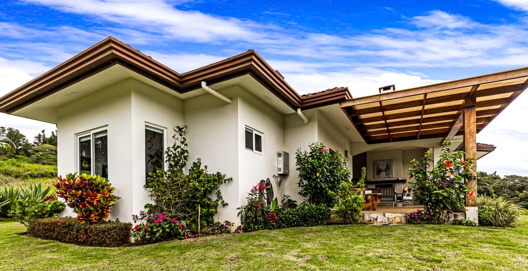 A house with garden
