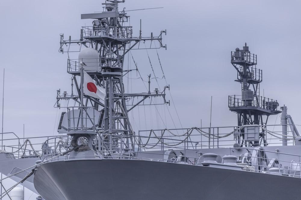 gray Japanese naval ship