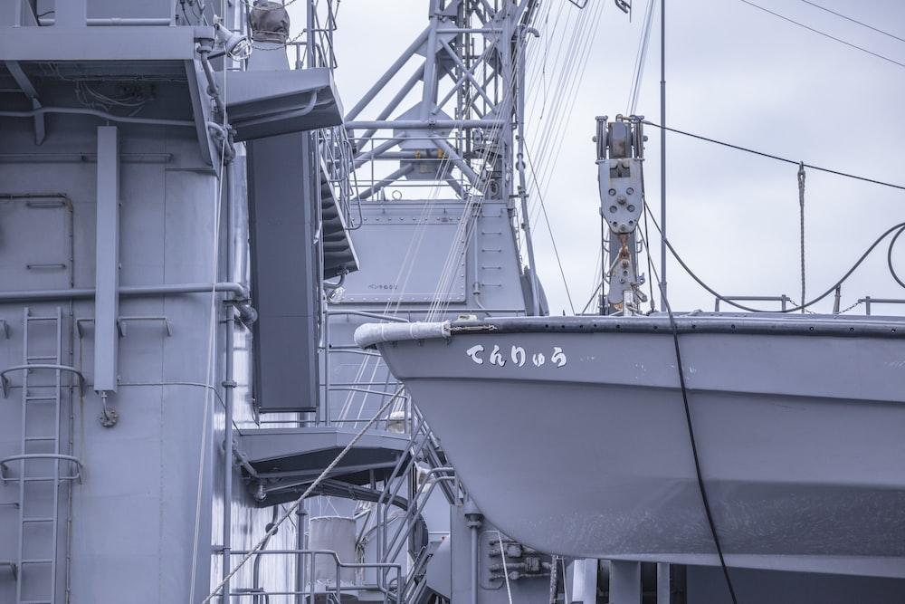 gray naval ship