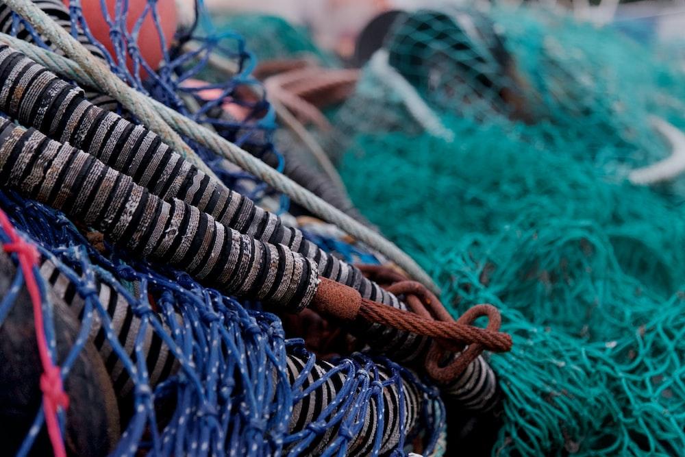close view of fishing net