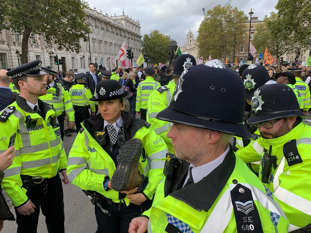 Arrest of a Extinction Rebellion protester, Whitehall, October 2019