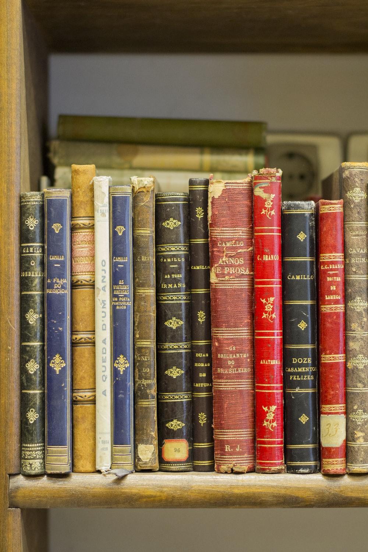 assorted title books on shelf