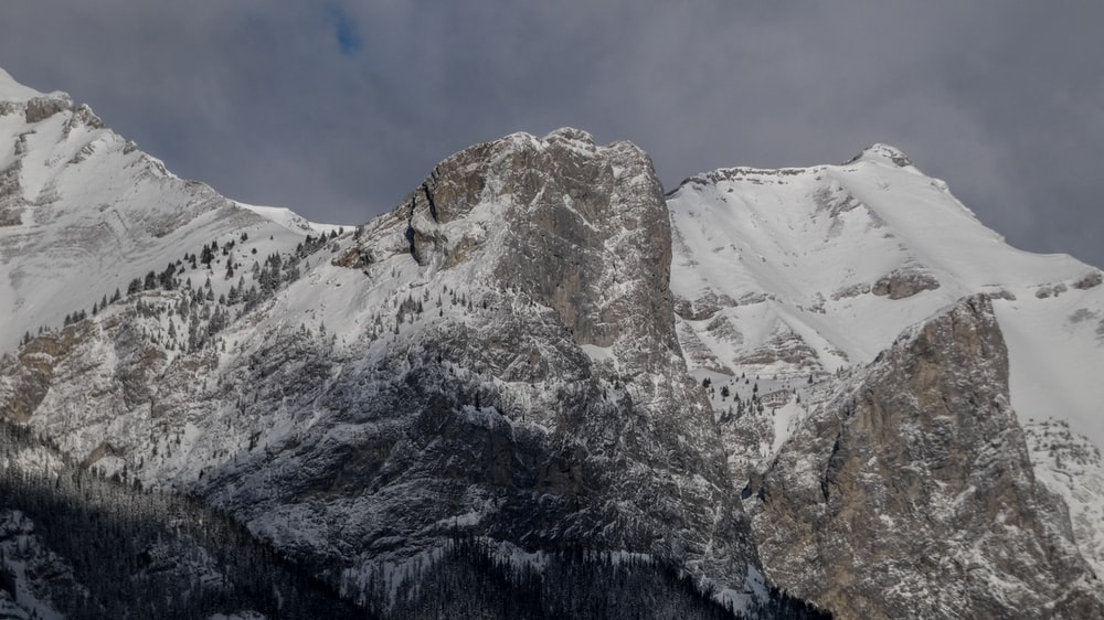 mountains covered with snow at daytime