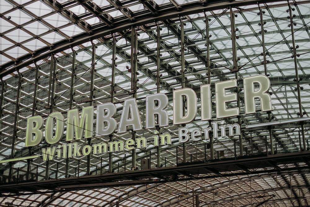Bombardier signage