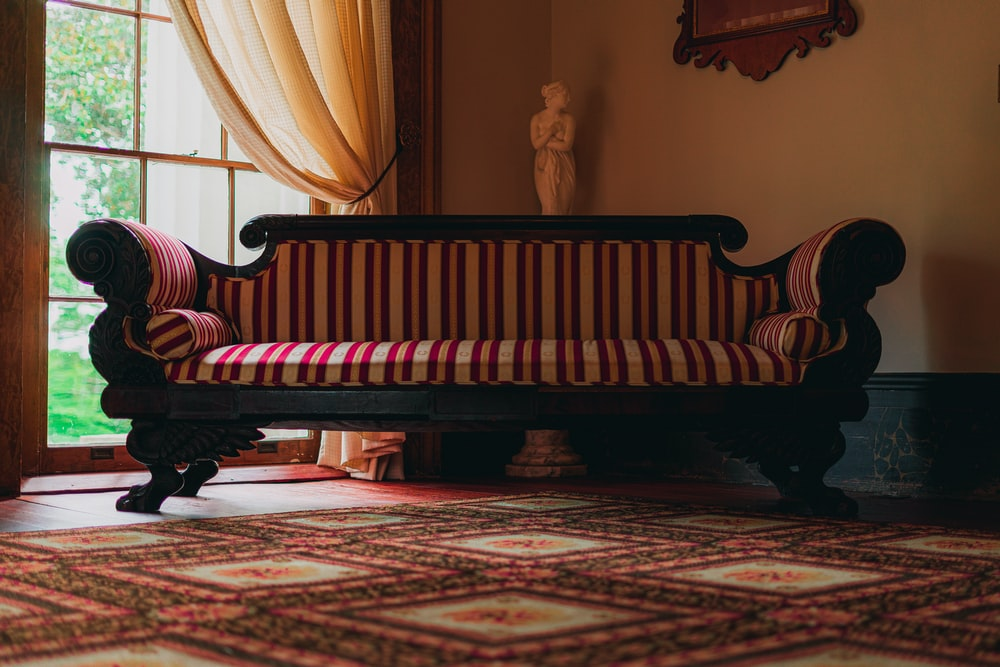 red and white striped sofa photo – Free Furniture Image on ...