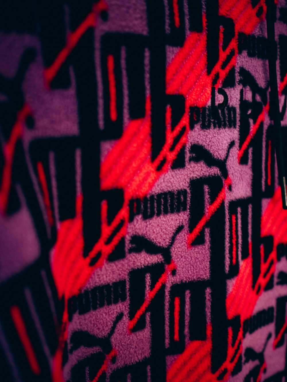 red and maroon tribal textile
