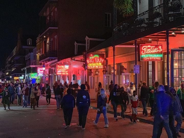 Bourbon street on kuuluisa katu New Orleansissa