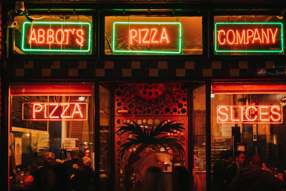 red and green neon signs