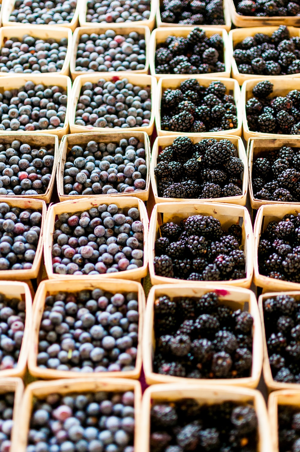blackberry and blueberry fruits