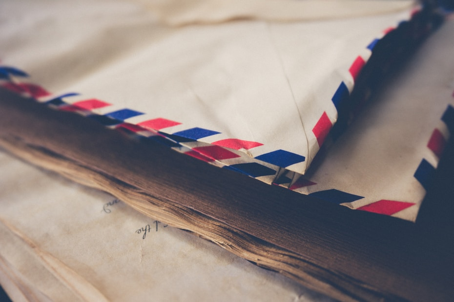 two white mailing envelopes