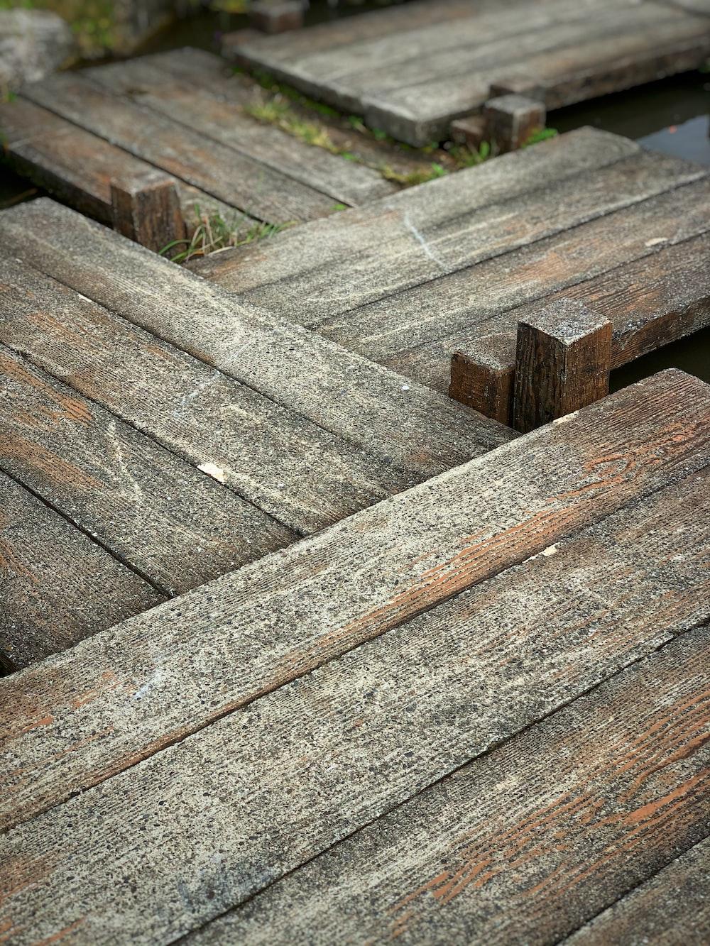 brown wooden boardwalk