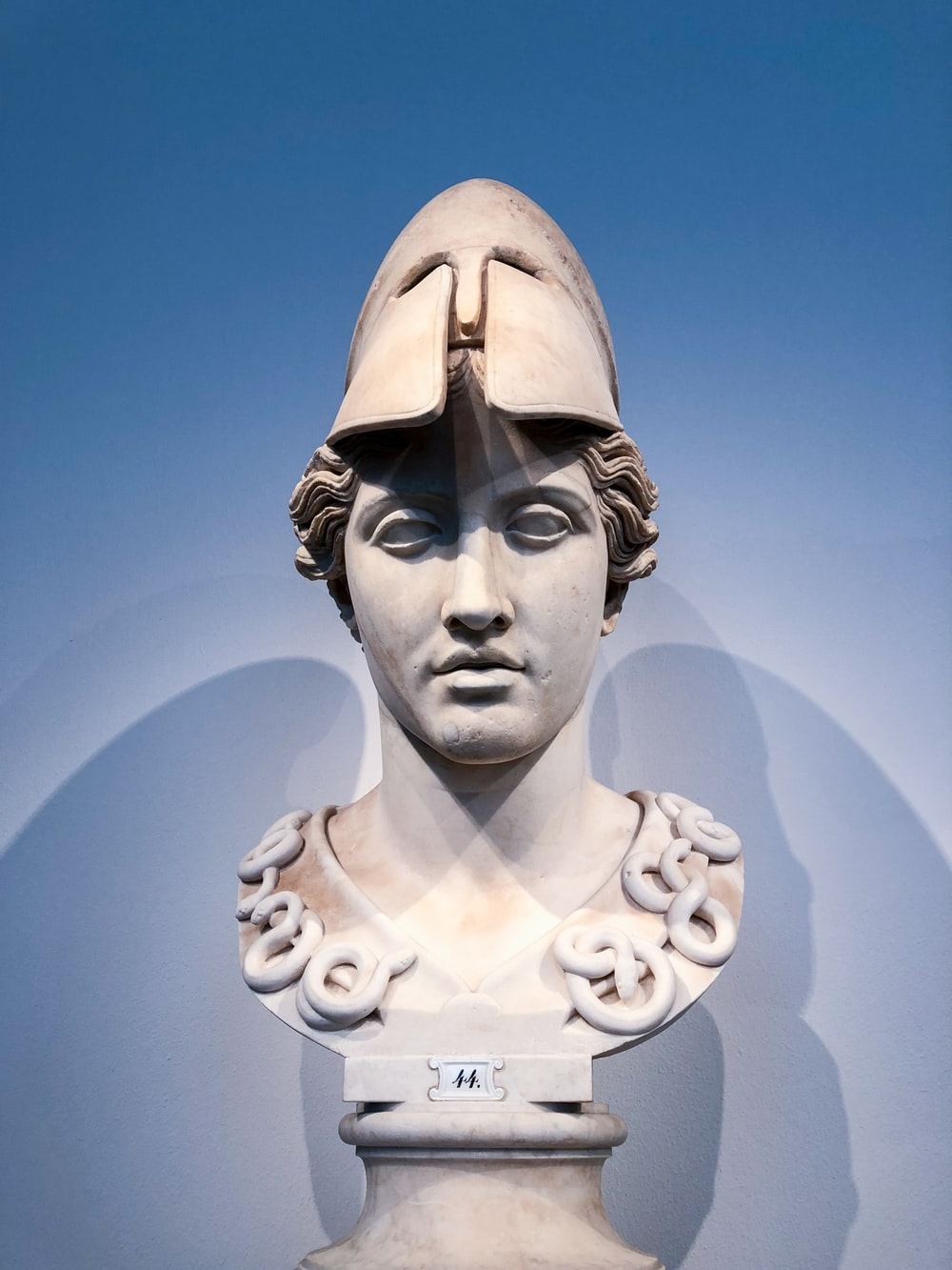 white headbust statue