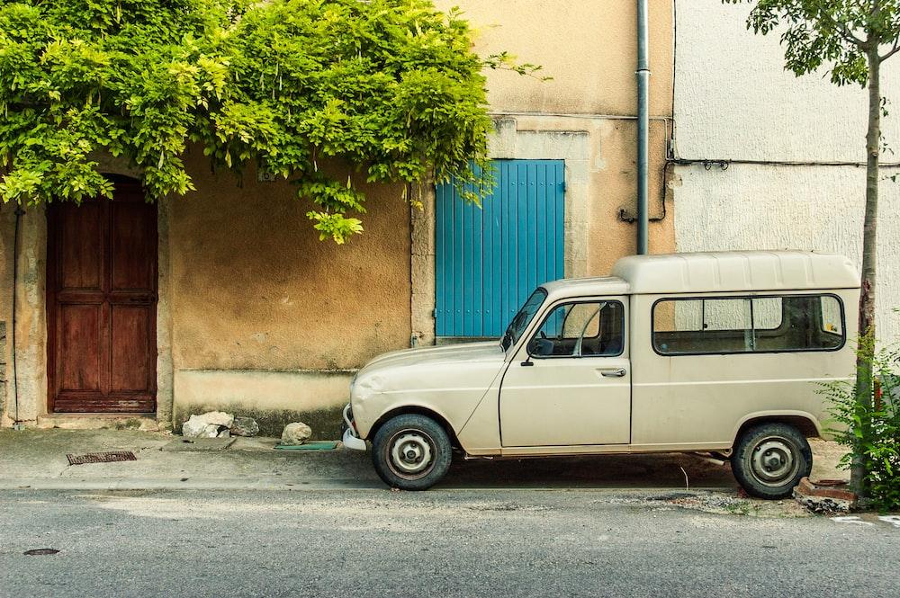 white 3-door hatchback