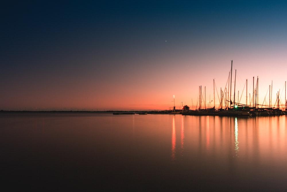 calm sea during golden hour