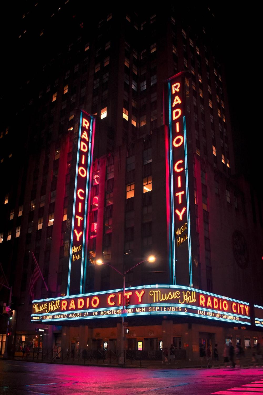 Radio City signage