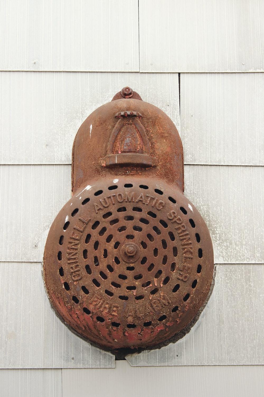 brown metal wall device