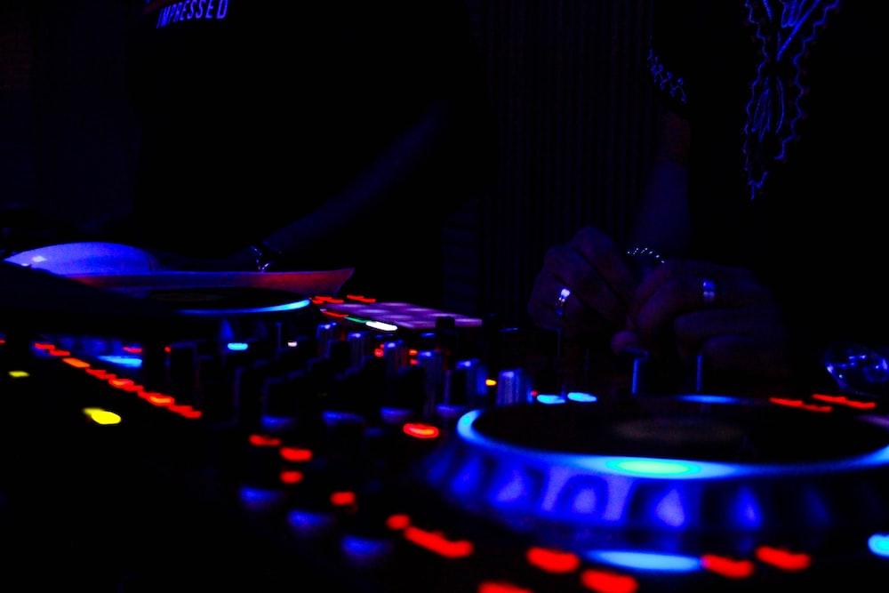 DJ playing DJ controller