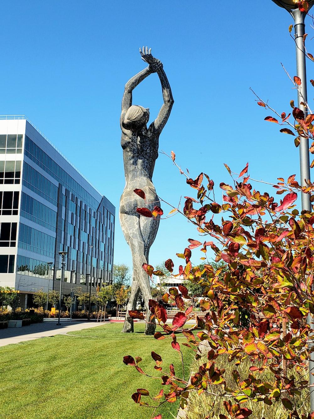 woman concrete statue