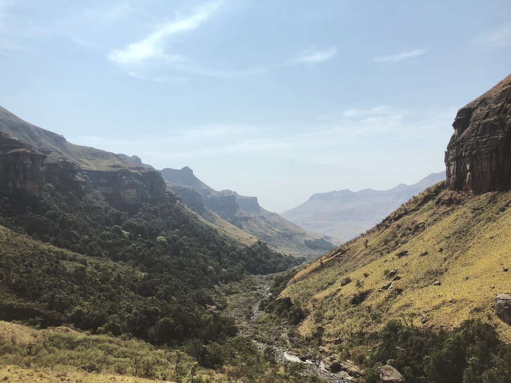 green mountain scenery