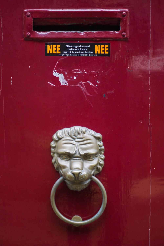 gray door knocker