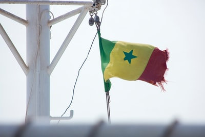yellow, red, and green flag senegal zoom background