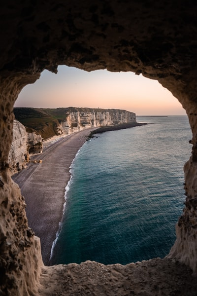 View on the coast of Étretat, Normandy from above